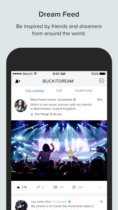 Buckitdream create your dream bucket list on the app store for Planning your dreams org