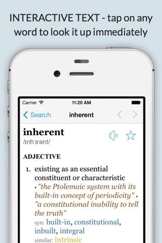 LexicEN English Offline Dictionary Thesaurus Lite screenshot 2