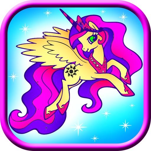 Coloring Fun Pony Unicorn legend iOS App