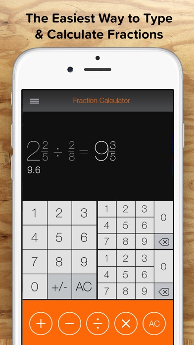 Fraction Calculator + Decimals to Fractions on the App Store