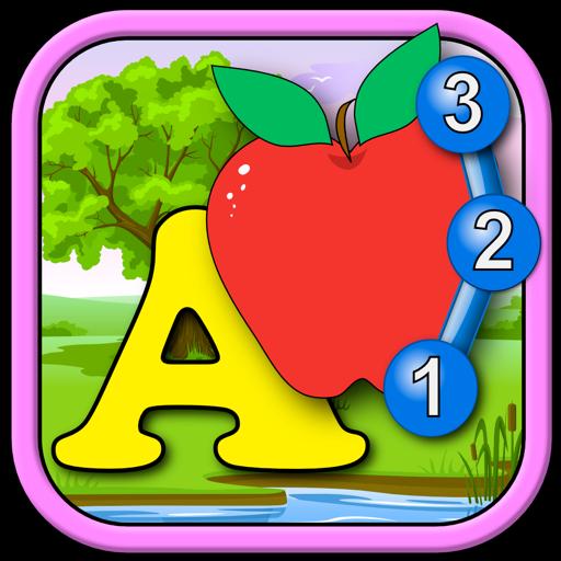 Дети ABC и подсчета подключение точка головоломки