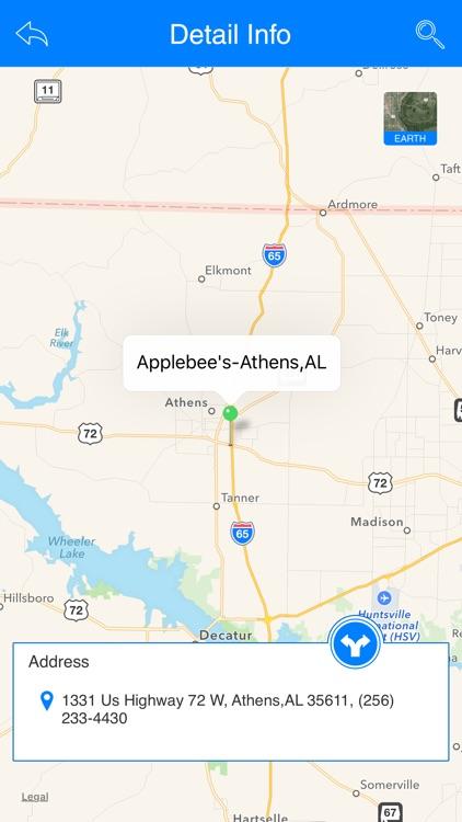 Great App for Applebee's Restaurants by TIRRI NAGA LAXMI on nearest golden corral locations, applebee's store locations, number of applebee's locations, chili's locations, huddle house locations,