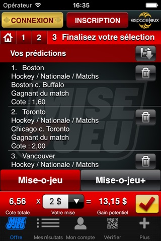 Mise-o-jeu screenshot 3
