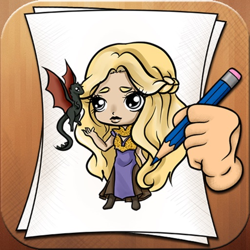 Learning To Draw Game Of Thrones Version iOS App