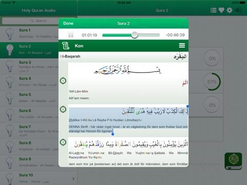 Quran Tajweed Audio mp3 in Swedish - Koranen Tajwid på Arabiska, Svenska och Fonetik-ipad-1