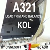 A321 KOL LOADSHEET TRIM and BALANCE