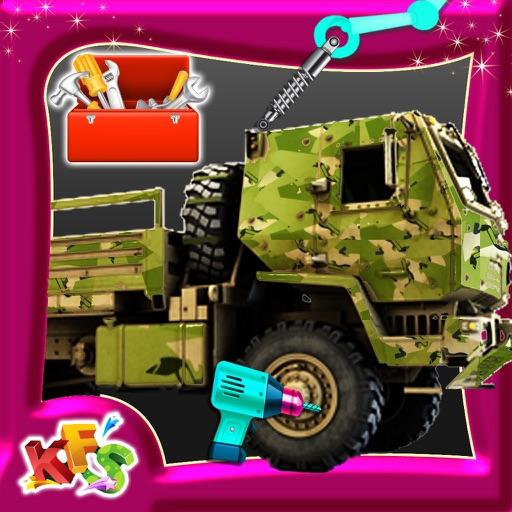 Build an Army Truck – Build & fix vehicle mania iOS App