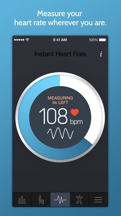 Screenshots of Instant Heart Rate: Heart Rate & Pulse Monitor for iPhone