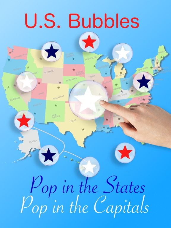 US Bubbles Lite The States Capitals Map Quiz On The App Store - Us capitals map quiz