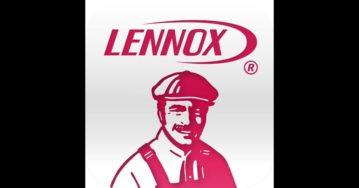 Lennox on the app store for Lennox program