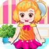 Babyhaar - schöne Mädchen gekleidet Glamour Modeschau *