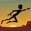 The Black Stickman Jumping Adventure - cool speed racing adventure game