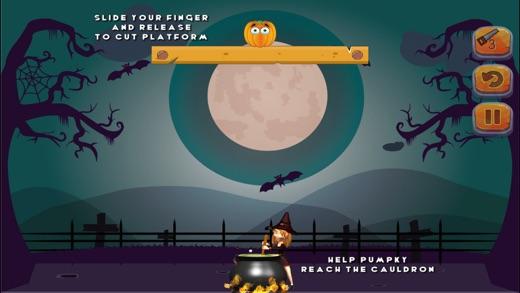 Puzzle Game - Cut the pumpkin Screenshot