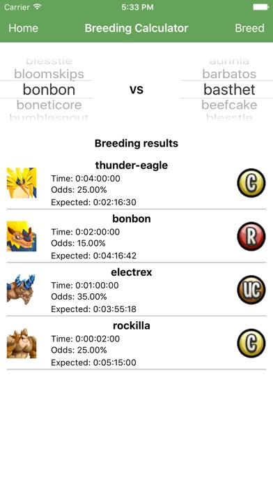 monster legends app breeding guide