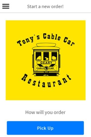 Tony's Cable Car Restaurant screenshot 1