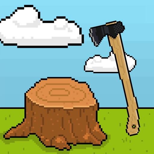 伐木工在砍树简笔画-iPnone游戏 游戏 搞趣网下载频道