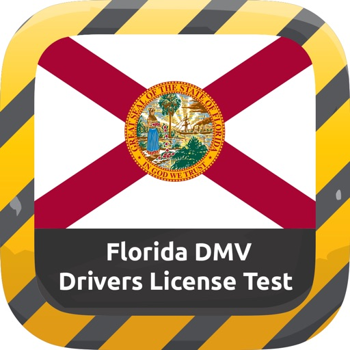 Florida DMV Drivers License Handbook & FL Signs Flashcards iOS App
