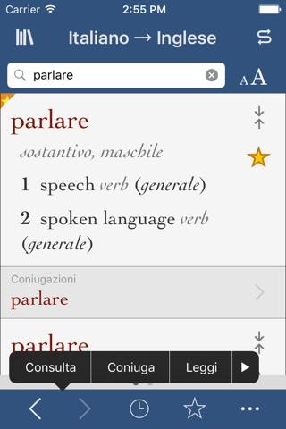 Italian-English Translation Dictionary and Verbs screenshot 1