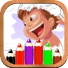 Paint Color Kid - Childrens's Drawing Desk , Paintbrush, Draw,Doodle, Sketch Coloring Book!