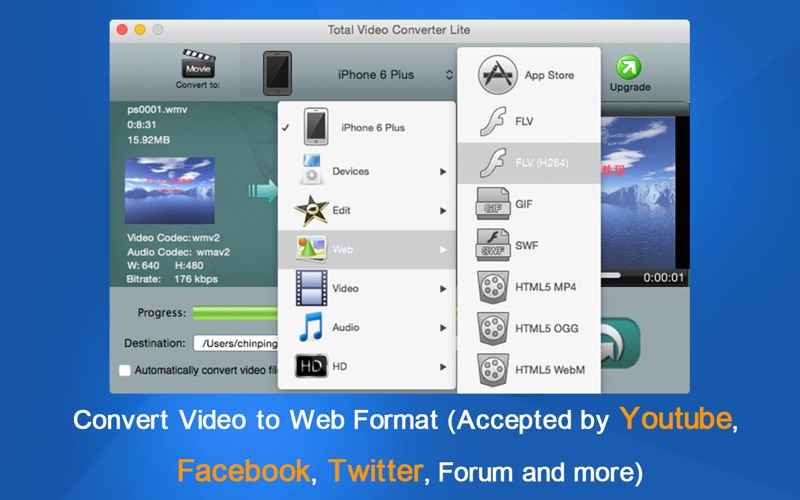 Screenshot #2 for Total Video Converter Lite - Totally Free to Convert Any Format
