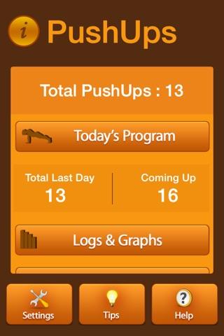 Pushups Fitness Workout screenshot 1