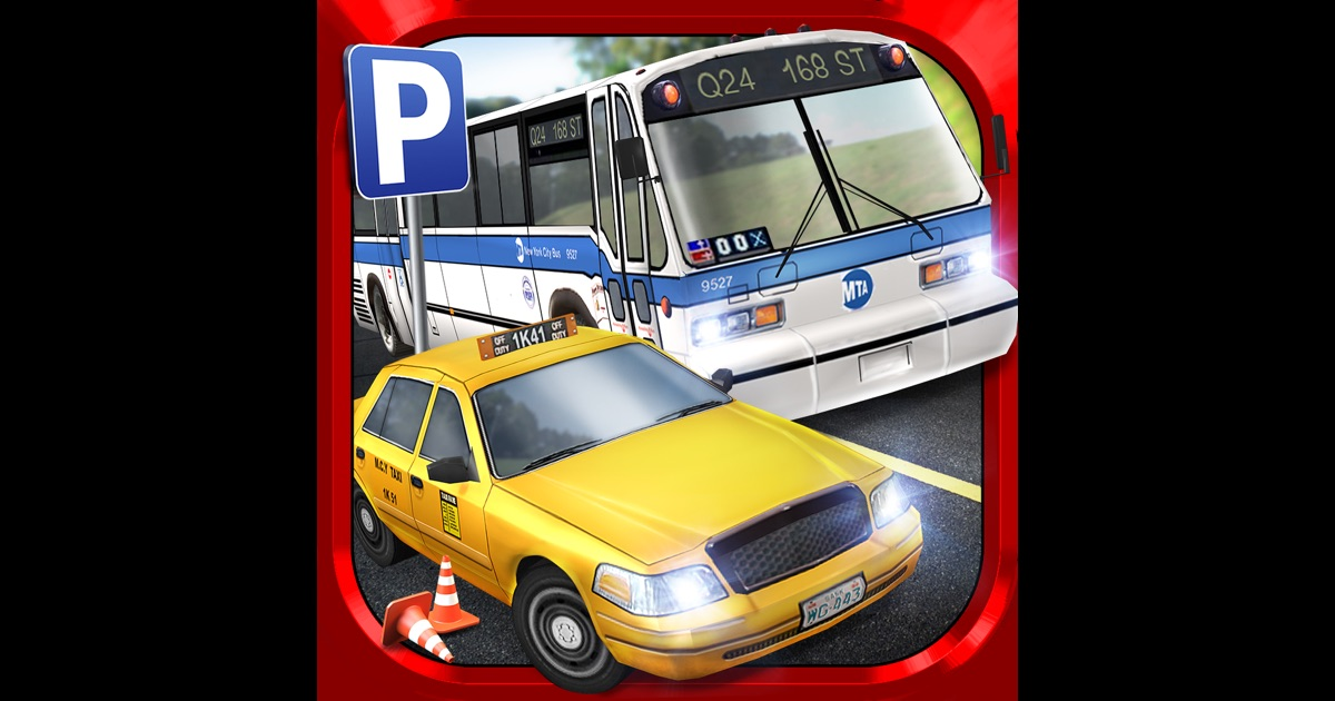 bus driving taxi parking simulator gratuit jeux de voiture de course dans l app store. Black Bedroom Furniture Sets. Home Design Ideas