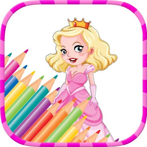 princesse des pages à colorier - Jeux de peinture pour les enfants