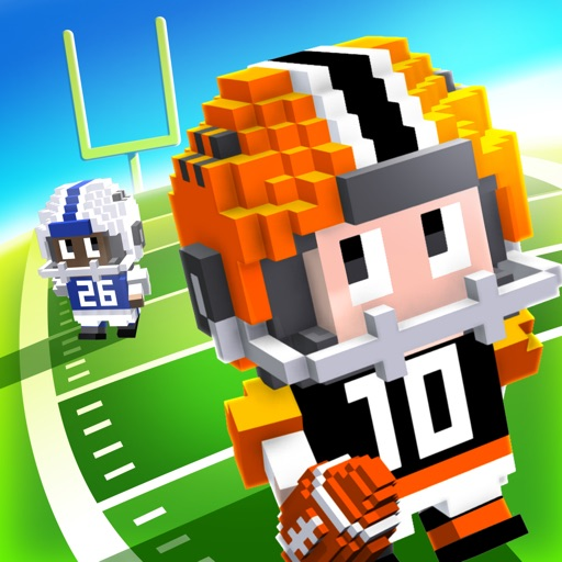 Download Blocky Football - Endless Arcade Runner free for iPhone, iPod and iPad