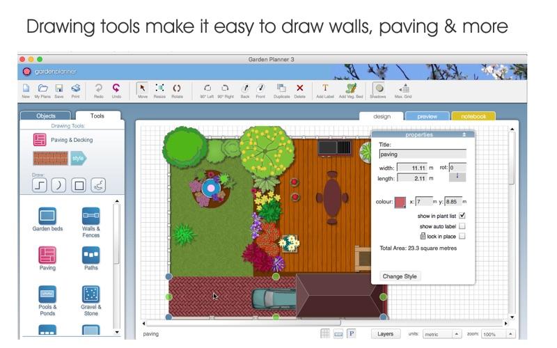 garden planner tool. screenshot 3. 4. 5. garden planner tool