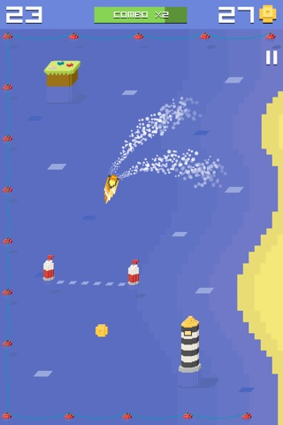 Pixel Bit Drift - Speed Boats Water Challenge screenshot 3