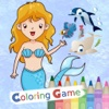 Coloring Book Education Game Kids For Little Mermaid