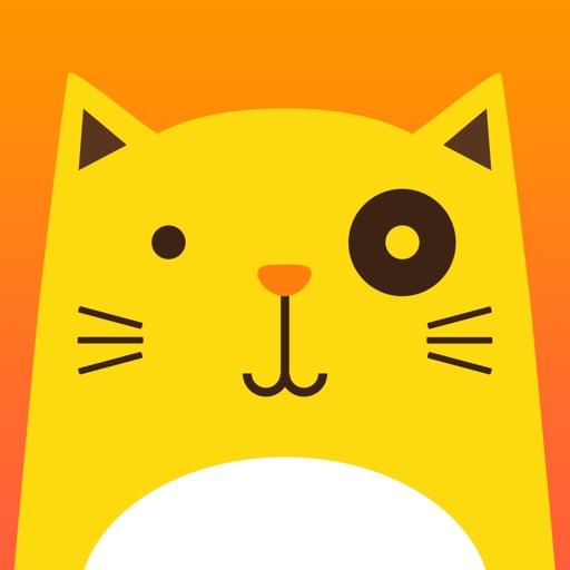 手绘卡通馋猫图片