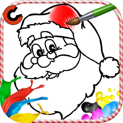 christmas paint colouring page iOS App