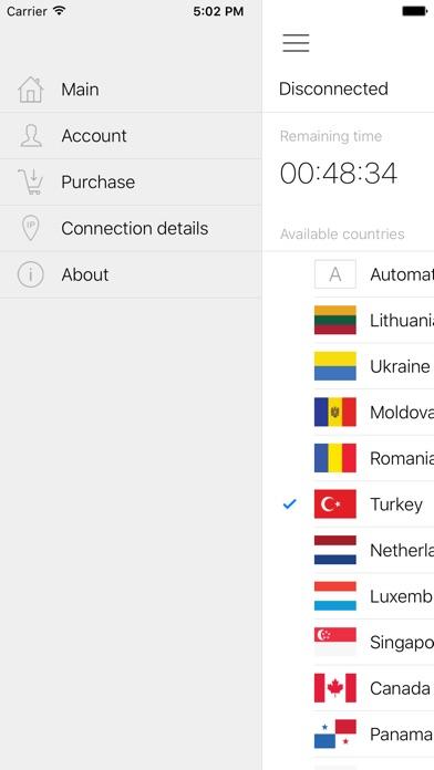 Hideman VPNのスクリーンショット4