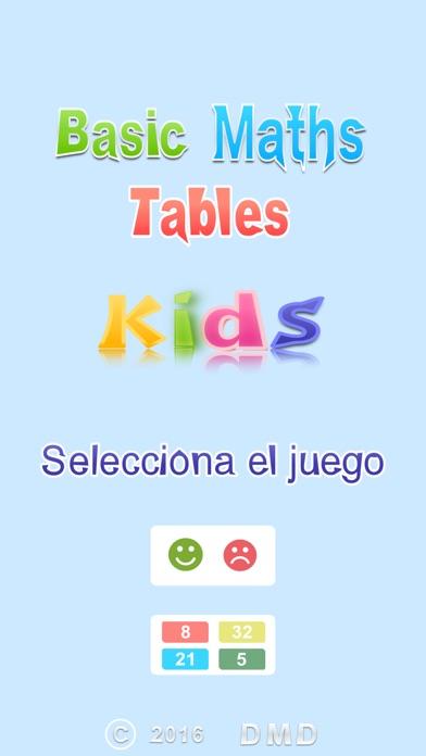 A Basic Maths Multiplication Tables for Kids - Train Your Brain Screenshot