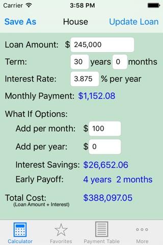 Loan Calculator — What If? screenshot 1