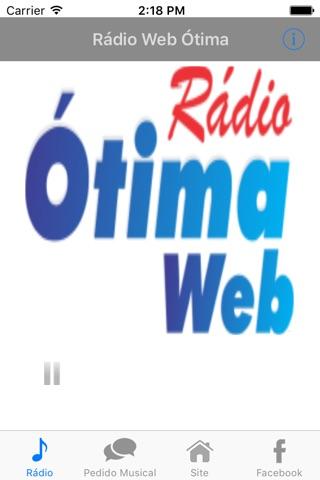 Rádio Web Ótima screenshot 1