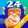 Chimp 24 - Free Brain entertaining arithmetic puzzles