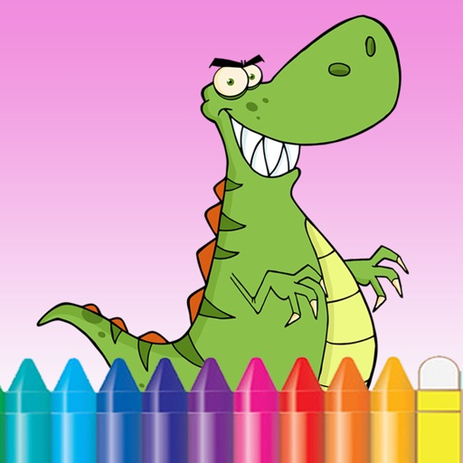 Dinosaur Coloring Book for Kids and kindergarten iOS App