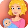 Mère enceinte princesse bébé avant la prestation des soins - bébé bienvenu & familiale et chaleureuse