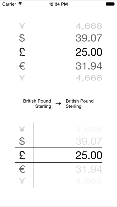 Monde Convertisseur de devises - convertisseur argent calculatrice, taux de change et en direct grille tarifaire pro (convertir Dollars, Euros, Bitcoin et beaucoup plus!)Capture d'écran de 2