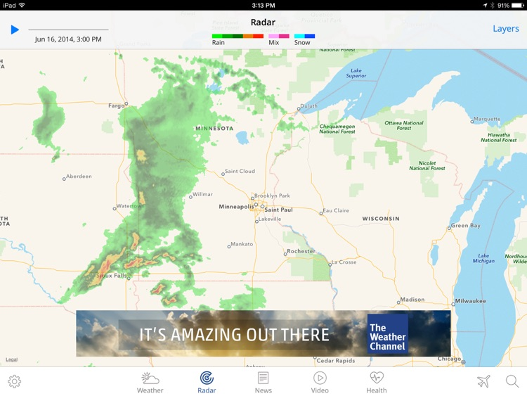 The weather channel app for ipad best local forecast radar map the weather channel app for ipad best local forecast radar map and storm gumiabroncs Choice Image