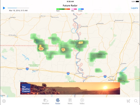Screenshot #3 for The Weather Channel App for iPad – best local forecast, radar map, and storm tracking