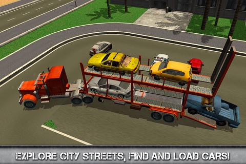 Car Transporter Driving Simulator 3D Full screenshot 2