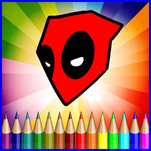 Coloring Games Kids For Deadpool Painting Skill iOS App