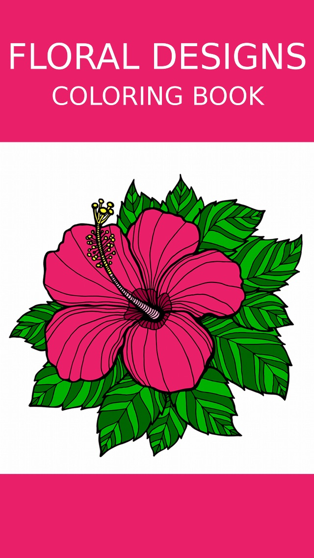 Screenshot 5 For Floral Coloring Book Adults Best Free Adult Therapy Pages