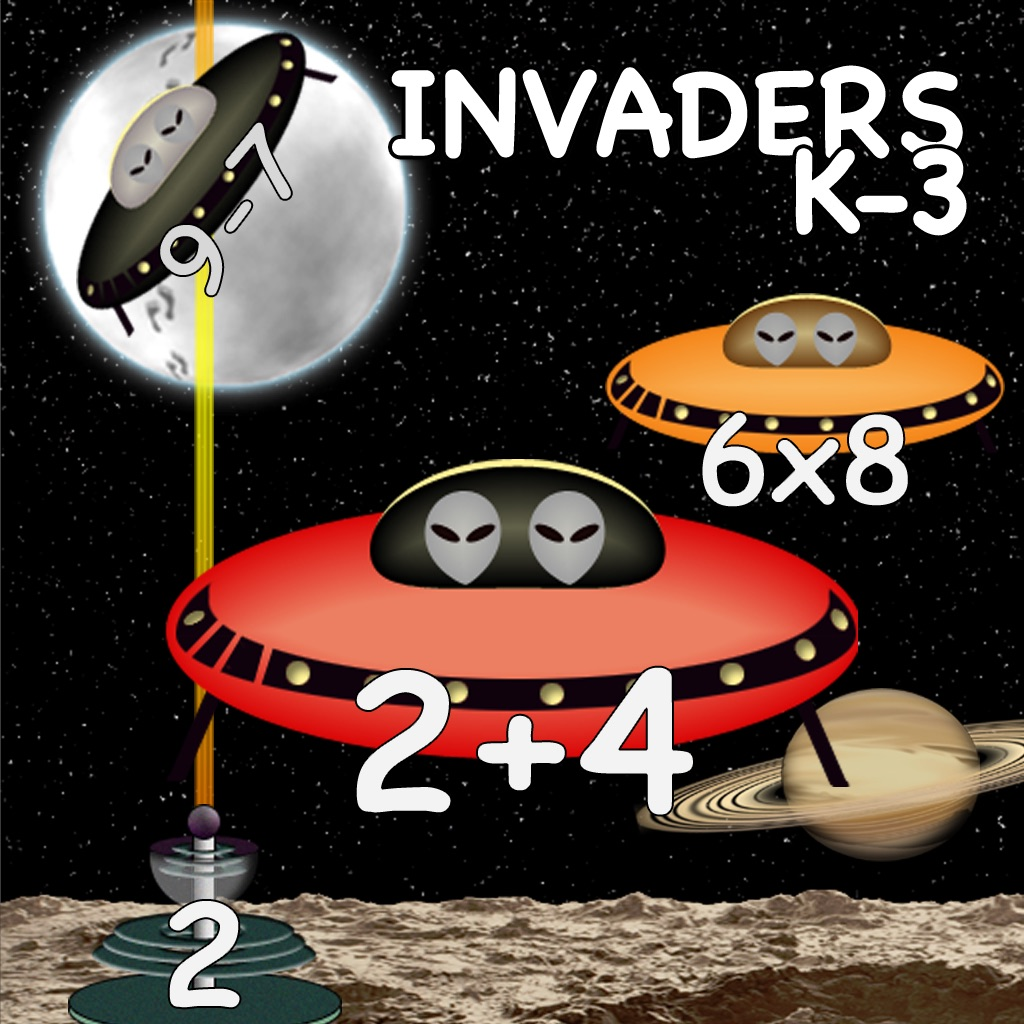 image for Arithmetic Invaders Express: Grade K-3 Math... app