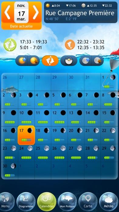 Screenshot #2 pour Pêche Deluxe – Calendrier et Meilleures Heures de Pêche