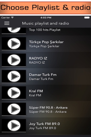 Radio Turkey - Free Turkish music from live fm radios stations ( Ucretsiz Türkiye Müzik Radyo & türk radyolar ) screenshot 2
