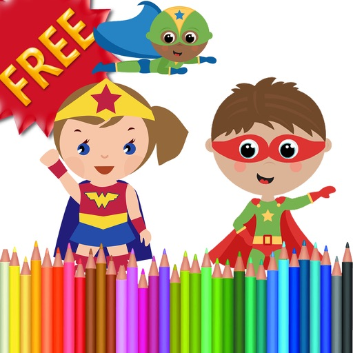 Coloring Book Heroes Free iOS App